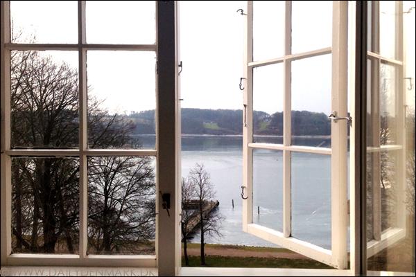 View from Hotel kolding fjord Jutland Denmark